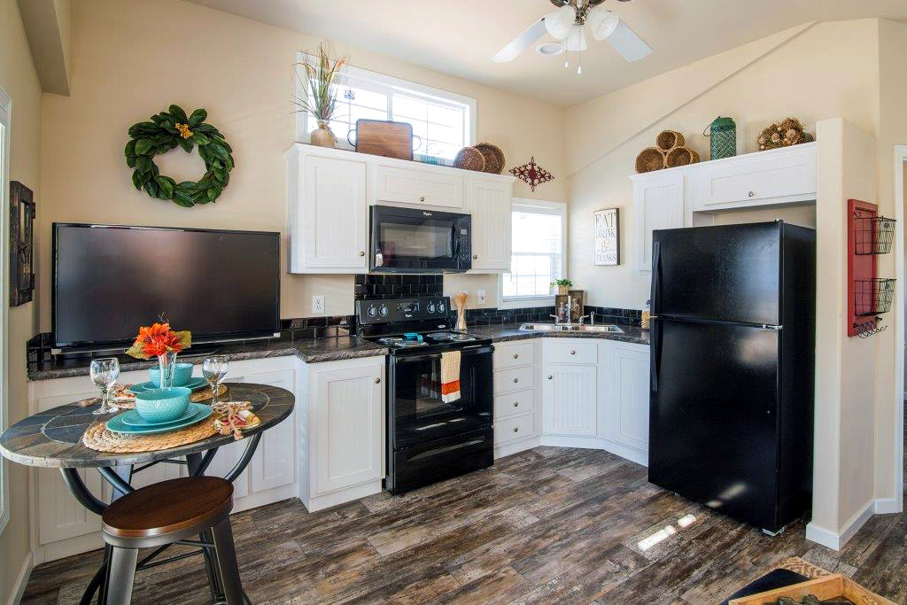 Homes at Eden Village will have all the amenities when finished, like a fully functional kitchen.