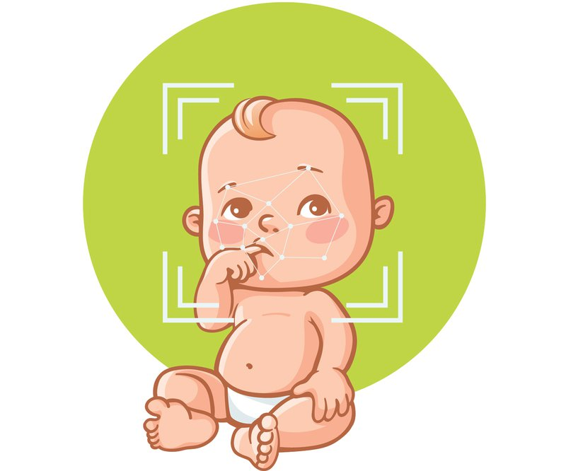 machine learning babies illustration