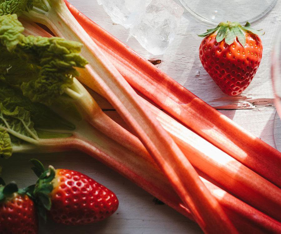 Strawberries and rhubarb are the perfect pair for springtime drinks, jams and desserts.