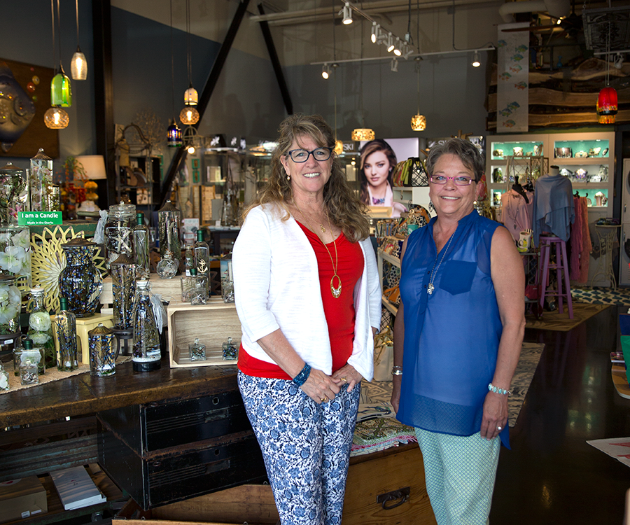 Lifelong friends and co-owners Linda Cherry and Rosemary Knaust mix national names with local finds in The Crystal Fish, Gifts of Distinction.