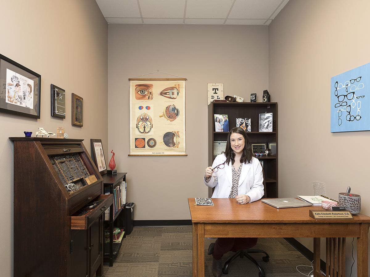 Dr. Katie McElvaine's Office Mixes Modern Medicine with Antique Pieces