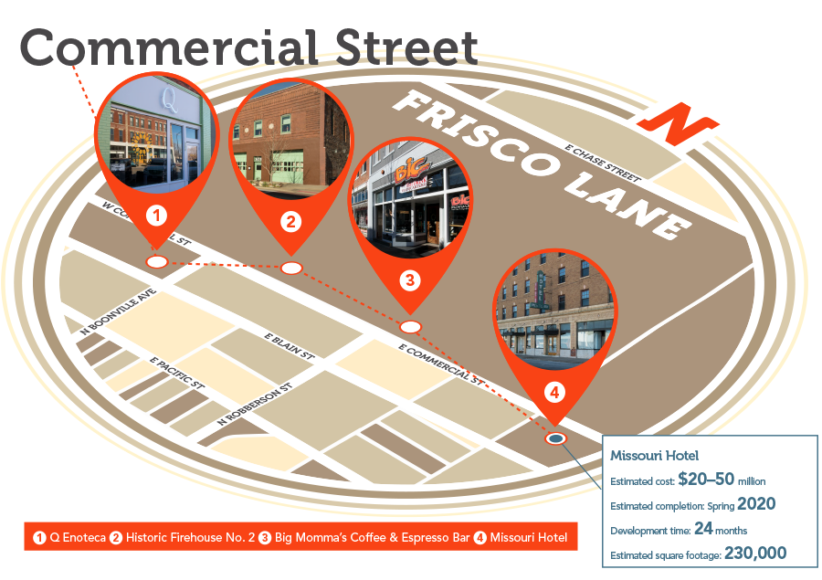 Hot Spots: Commercial Street Map