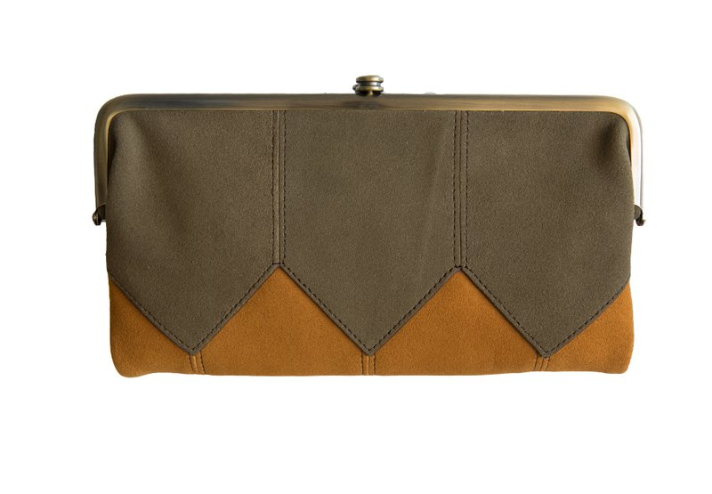 leather bags orange tan town and county clutch